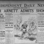 The Dec. 2,1926, edition of the Independent Daily News covers Edgar Arnett's confession to killing  Henkel during a circuit court trial in Stanton.