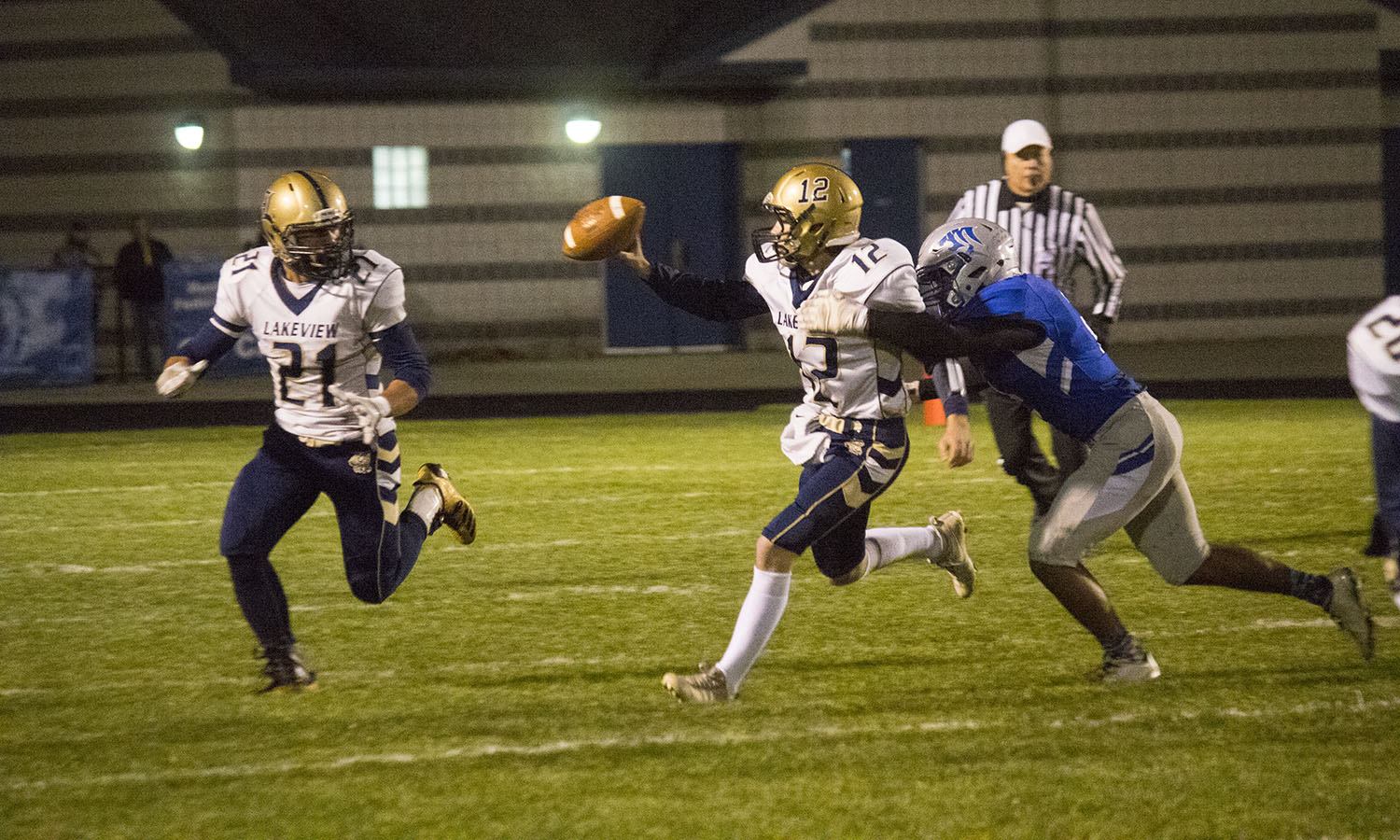 Montague Wins Battle Of Wildcats 47 0 Over Lakeview