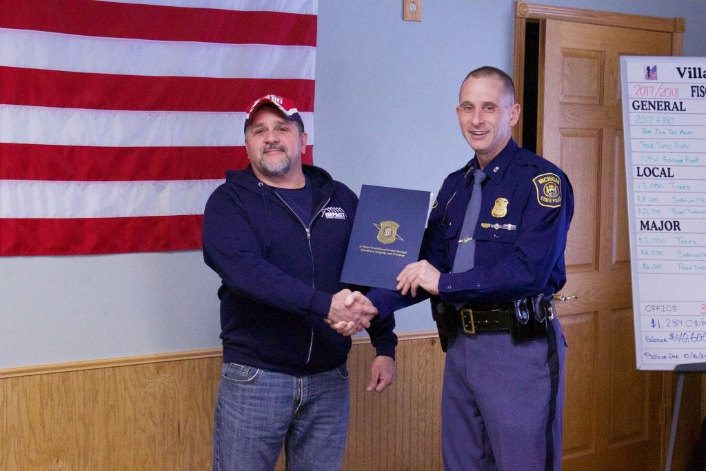 Michigan State Police recognize man for responding to fatal