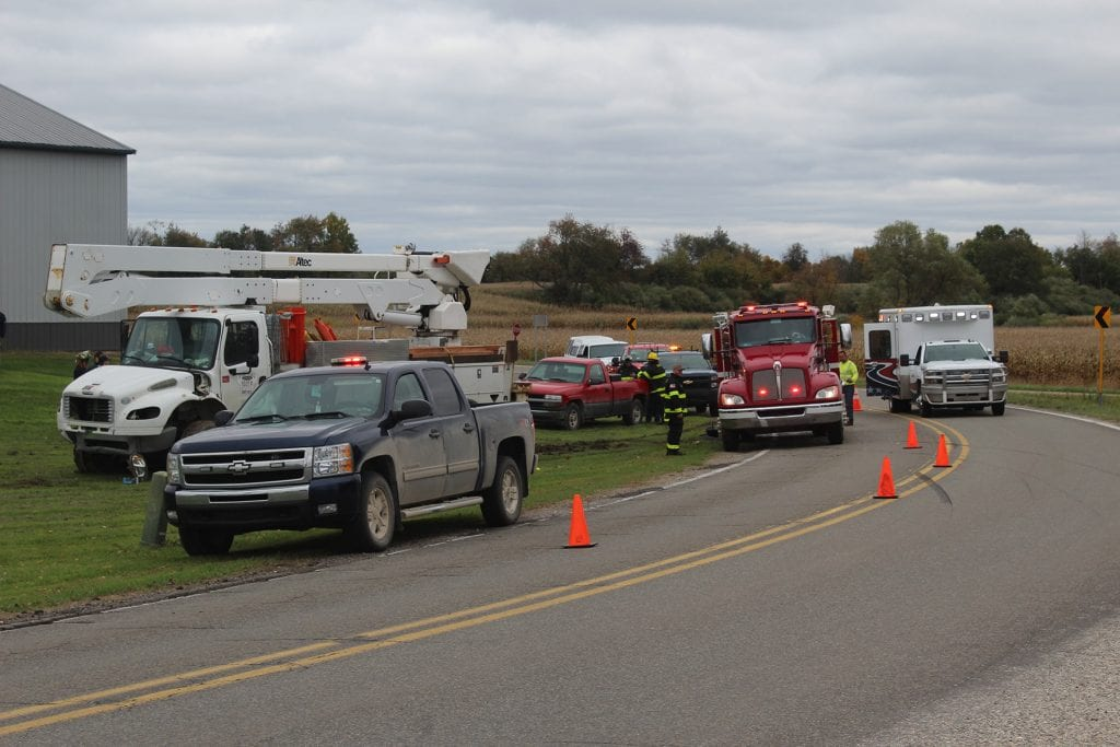 JUST IN: 1 man dead after utility truck and car accident